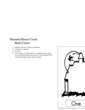 Haunted House Count Math Center