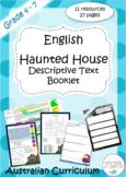Haunted House Descriptive Booklet- English