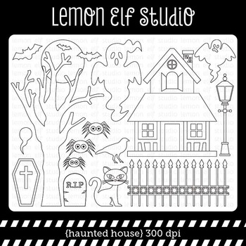 Haunted House-Digital Stamp (LES.DS46)