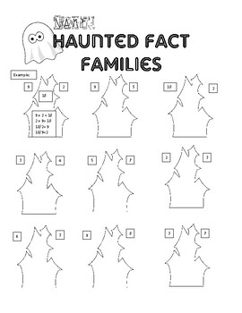 Haunted House Fact Families-Multiplication