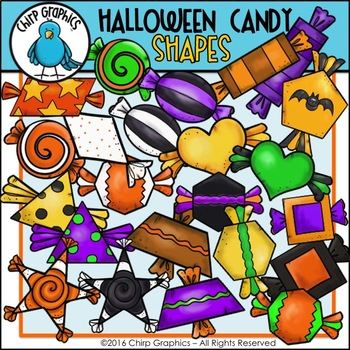 Halloween Candy Shapes Clip Art Set - Chirp Graphics