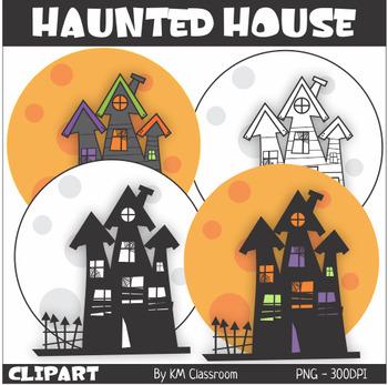 Haunted House Halloween ClipArt