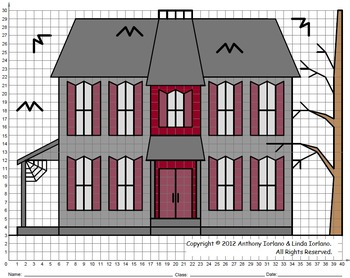 Halloween, Haunted House, Coordinate Graphing, Coordinate Drawing