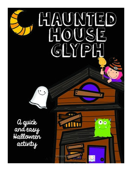 Haunted House Halloween Glyph