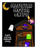 Haunted House Halloween Glyph
