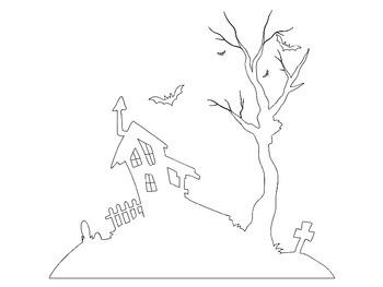 Haunted House Halloween Writing Activity
