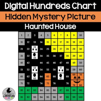 Haunted House Hundreds Chart Picture Activity for Halloween or Fall Math