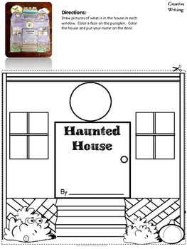 Halloween Activities Kindergarten Haunted House Layered Book Creative Writing