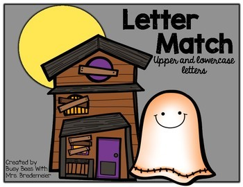 Haunted House Letter Match Up