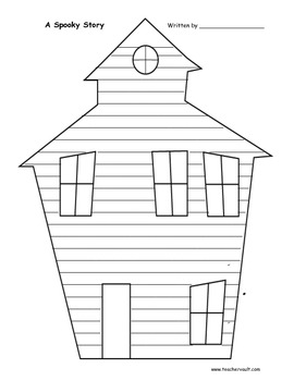 Haunted House Lined Paper