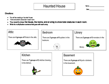 Haunted House Multiplication