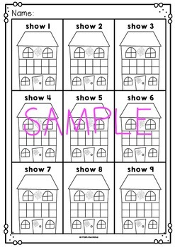 Haunted House Number Activity Cards