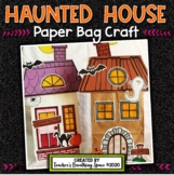 Haunted House Paper Bag Craft for Halloween