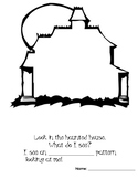 Haunted House Pattern Page