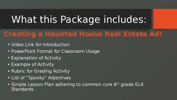 Haunted House Persuasive Writing Project