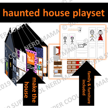 Halloween Haunted House Writing and Playset