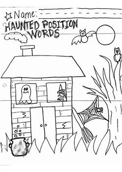 Haunted House Position Words for Kindergarten