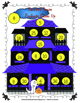 Haunted House Product Cover Up Solve Multiplication Facts Using Strategies