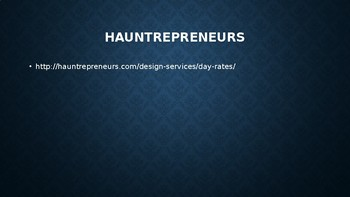 Haunted House Project - Business