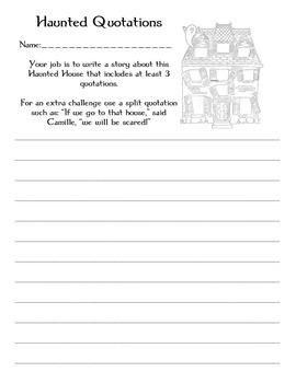 Haunted House Quotations Story