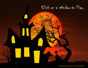 Haunted House Rhythms - Interactive Rhythm Reading Practice Game {Syn-co-pa}