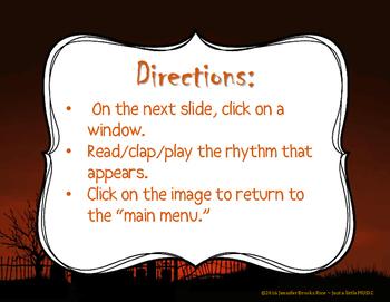 Haunted House Rhythms - Interactive Rhythm Reading Practice Game {ta-ah}