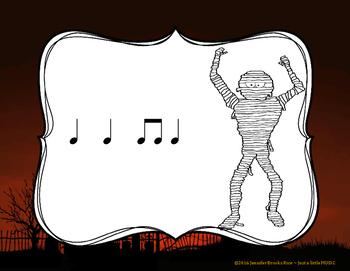 Haunted House Rhythms - Interactive Rhythm Reading Practice Game {ta titi}