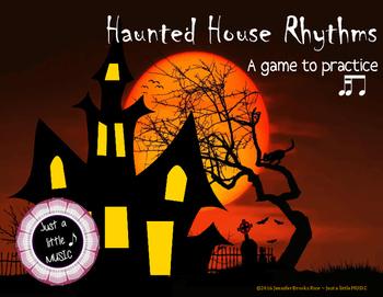 Haunted House Rhythms - Interactive Rhythm Reading Practice Game {tika ti}
