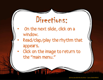 Haunted House Rhythms - Interactive Rhythm Reading Practice Game {tika tika}