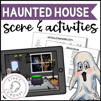 Haunted House Scene and Activities (No Print Required)
