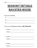 Haunted House Sensory Details Narrative Writing Guide