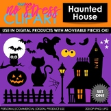 Haunted House Set 1 Clip Art (Digital Use Ok!)