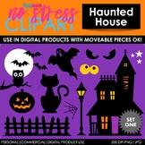 Haunted House Set 1 Clip Art (Digital Use Ok!)