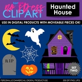 Haunted House Set 2 Clip Art (Digital Use Ok!)