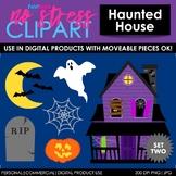 Haunted House Set 2 Clip Art (Digital Use Ok!)