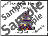 Halloween Word Family Game/ Haunted House Word Family Game