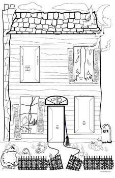 Haunted House Writing Project With Haunted House Template and Pop- Outs