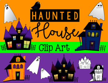 Haunted House and Ghost Clip Art