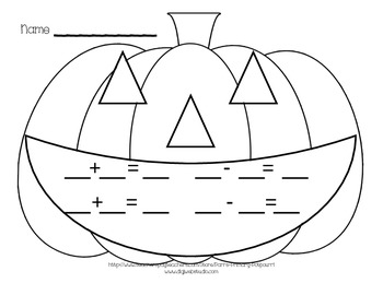 Haunted House and Jack-O-Lantern Fact Family with number bonds