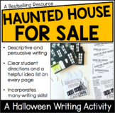 Haunted House for Sale- Descriptive + Persuasive Writing Activity
