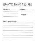 Haunted House for Sale- Halloween Writing prompt