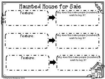 Haunted House for Sale Writing