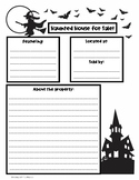 Haunted House for Sale Writing Template