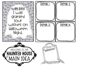 Haunted House of Main Idea Differentiated Craftivity