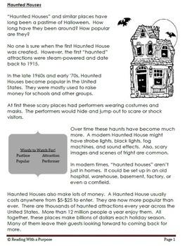 Haunted Houses: 4th Grade Common Core