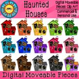 Haunted Houses Digital Moveable Clip Art