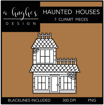 Haunted Houses Clipart {A Hughes Design}