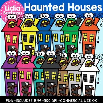 Haunted Houses- Halloween Clipart