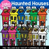 Haunted Houses- Halloween Clipart