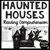 Haunted Houses poem by Longfellow Reading Comprehension, vocabulary